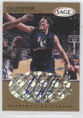 1999 Sage Autographs Gold #A7 - Cal Bowdler /200