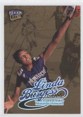 1999 Ultra WNBA Gold Medallion Edition #72G - Linda Burgess