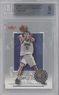 2000-01 Fleer Authority Rookies 1250 #118 - Hidayet Turkoglu [BGS 9]
