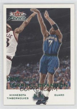 2000-01 Fleer Focus - [Base] - Draft Position #76 - Terrell Brandon /100