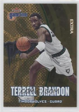 2000-01 Fleer Game Time Extra #21 - Terrell Brandon