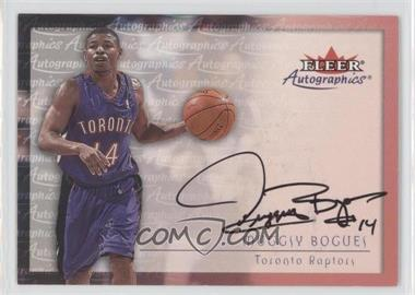 2000-01 Fleer Tradition - Autographics - [Autographed] #MUBO - Muggsy Bogues