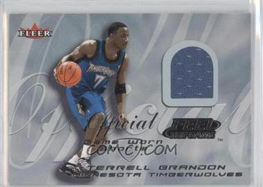 2000-01 Fleer Tradition - Feel the Game Game Worn #TEBR - Terrell Brandon