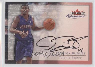 2000-01 Fleer Tradition Autographics [Autographed] #MUBO - Muggsy Bogues