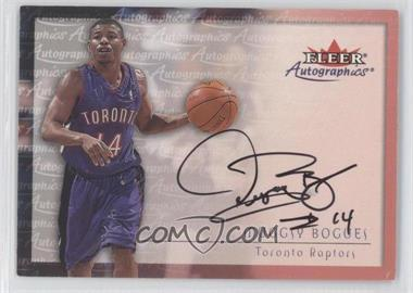 2000-01 Fleer Tradition Autographics [Autographed] #MUBO - Tyrone Bogues