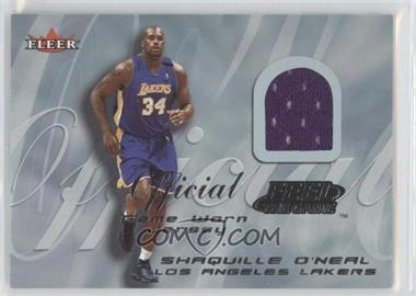 2000-01 Fleer Tradition Feel the Game Game Worn #SHON.1 - Shaquille O'Neal (Purple Uniform)