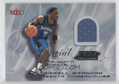 2000-01 Fleer Tradition Feel the Game Game Worn #TEBR - Terrell Brandon