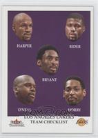 Kobe Bryant, Shaquille O'Neal, Robert Horry, Del Harris, Isaiah Rider