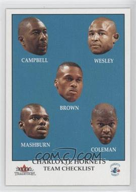 2000-01 Fleer Tradition #294 - Team Checklist - Charlotte Hornets