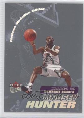 2000-01 Fleer Ultra - [Base] - Platinum Medallion #92P - Lindsey Hunter /50