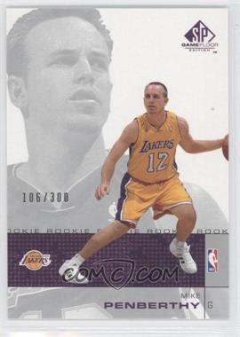 2000-01 SP Game Floor Edition #73 - Mike Penberthy /300