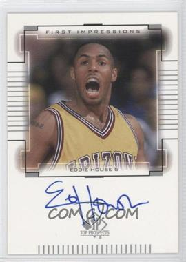 2000-01 SP Top Prospects First Impressions [Autographed] #EH - Eddie House