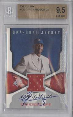 2000-01 SPx - [Base] #122 - Quentin Richardson /2500 [BGS 9.5]