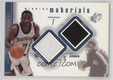 2000-01 SPx - Winning Materials #TB1 - Terrell Brandon