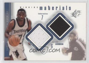 2000-01 SPx Winning Materials #TB1 - Terrell Brandon