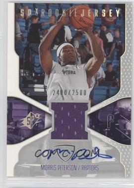 2000-01 SPx #119 - Morris Peterson /2500