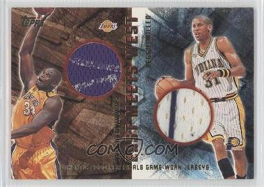 2000-01 Topps - East Meets West #EMW1 - Reggie Miller, Shaquille O'Neal