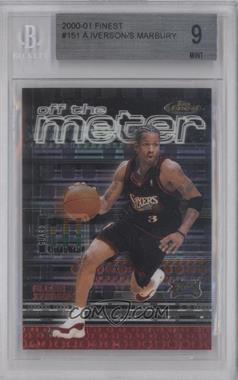 2000-01 Topps Finest - [Base] #151 - Allen Iverson, Stephon Marbury [BGS9]