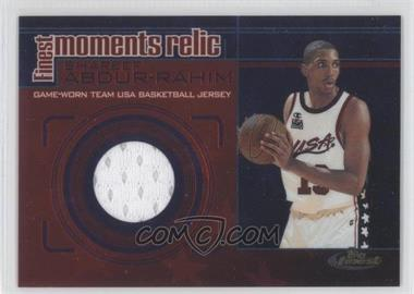 2000-01 Topps Finest Finest Moments Relics #FMR10 - Shareef Abdur-Rahim