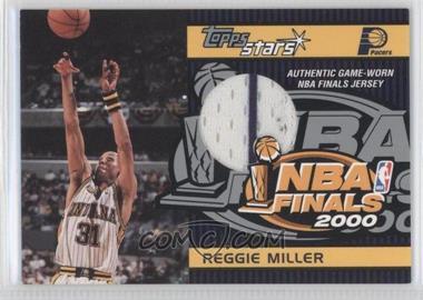 2000-01 Topps Stars - Game Jersey #TSR12 - Reggie Miller