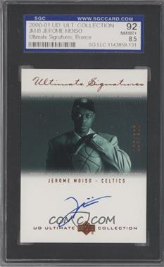 2000-01 UD Ultimate Collection - Ultimate Signatures - Bronze [Autographed] #JM-B - Jerome Moiso /200 [SGC 92]