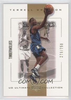 2000-01 UD Ultimate Collection #34 - Terrell Brandon /750
