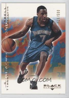 2000-01 Upper Deck Black Diamond - [Base] - Gold #49 - Terrell Brandon /500
