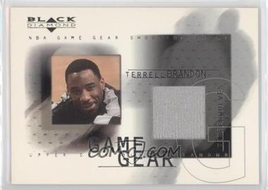 2000-01 Upper Deck Black Diamond Game Gear #TB - Terrell Brandon