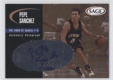 2000 Sage - Authentic Autograph - Bronze #A43 - Pepe Sanchez /650
