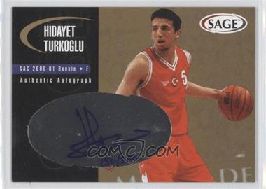 2000 Sage - Authentic Autograph - Gold #A48 - Hidayet Turkoglu /200