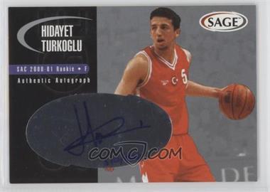 2000 Sage - Authentic Autograph - Silver #A48 - Hidayet Turkoglu /400
