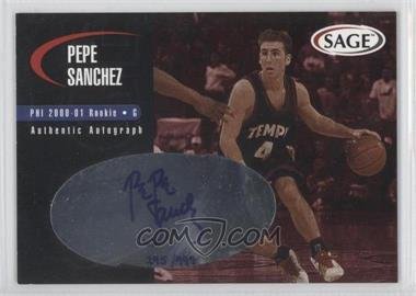 2000 Sage Authentic Autograph Master Edition #A43 - Pepe Sanchez /999
