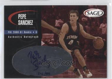 2000 Sage Authentic Autograph #A43 - Pepe Sanchez /999