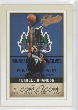 2001-02 Fleer Authentix - [Base] #2 - Terrell Brandon