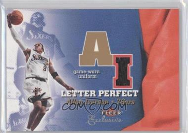 2001-02 Fleer Exclusive Letter Perfect JV #AI-JV - Allen Iverson