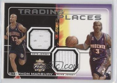2001-02 Fleer Focus Jersey Edition Trading Places Jerseys #TP-SM - Stephon Marbury