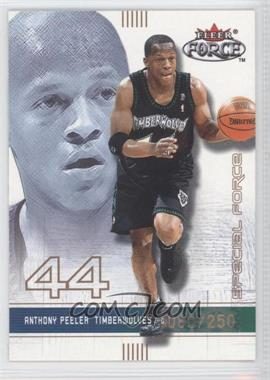 2001-02 Fleer Force Special Forces #154 - Anthony Peeler /250