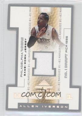 2001-02 Fleer Marquee We're No. 1 Memorabilia #3 - Allen Iverson