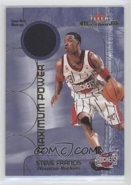 2001-02 Fleer Maximum - Maximum Power Warm-ups #N/A - Steve Francis