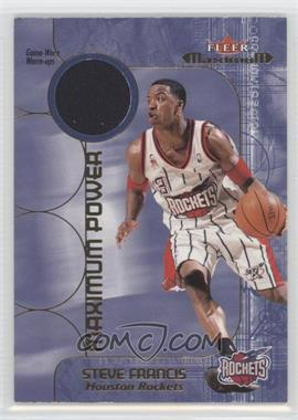 2001-02 Fleer Maximum Maximum Power Warm-ups #N/A - Steve Francis
