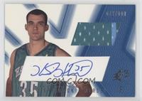 Signed Rookie Jersey - Kirk Haston (Blue) /800