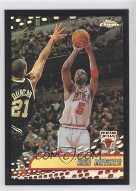 2001-02 Topps Chrome Black Border Refractor #127 - Ron Mercer /50