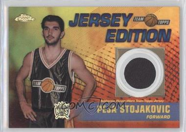 2001-02 Topps Chrome Team Topps Jersey Edition [???] Refractor #TT-PS - Peja Stojakovic /50