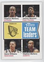 Stephon Marbury, Johnny Newman, Aaron Williams