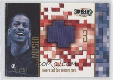 2001-02 UD Playmakers Limited Player's Club Gold Shooting Shirts #AI-GS - Allen Iverson /150