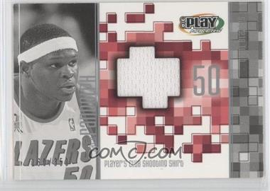 2001-02 UD Playmakers Limited Player's Club Shooting Shirts #ZR-S - Zach Randolph /350