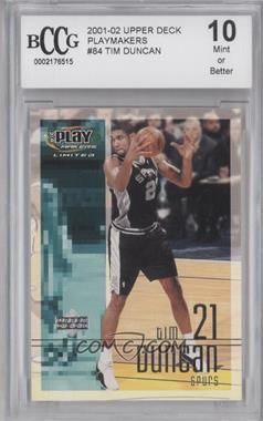 2001-02 UD Playmakers Limited #84 - Tim Duncan [ENCASED]