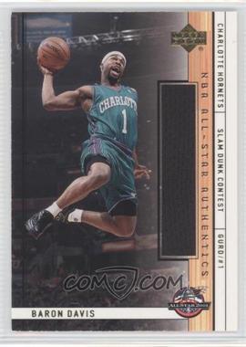 2001-02 Upper Deck - NBA All-Star Authentics #BD-AS - Baron Davis