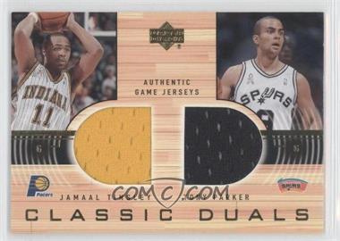 2001-02 Upper Deck Classic Duals #N/A - Jamaal Tinsley, Tony Parker