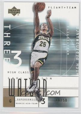 2001-02 Upper Deck Flight Team Gold #111 - Earl Watson /50